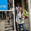 Goodwill Ambassador, Alyssa Milano visiting UNICEF Kosovo Office