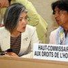 Human Rights Chief Navi Pillay (right) and her Deputy Kyung-wha Kang