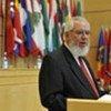 Le Directeur général de l'Organisation internationale du travail (OIT), Juan Somavia, lors de l'ouverture de la conférence annuelle de l'organisation