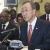 Le Secrétaire général de l'ONU, Ban Ki-moon, à Bujumbura, au Burundi