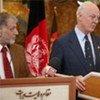 Le Représentant spécial de l'ONU en Afghanistan, Staffan de Mistura, à Hérat.