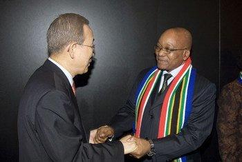潘基文与南非总统