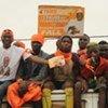 Des Guinéens lors de la campagne pour le scrutin présidentiel du 27 juin 2010.