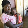 A woman and child in the Republic of Congo