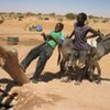 Drawing water from a well near the village of Gouragass in southern Niger