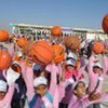 Children in Gaza take part in breaking world record