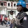 Haitian Police and UN Police on patrol in Port-au-Prince