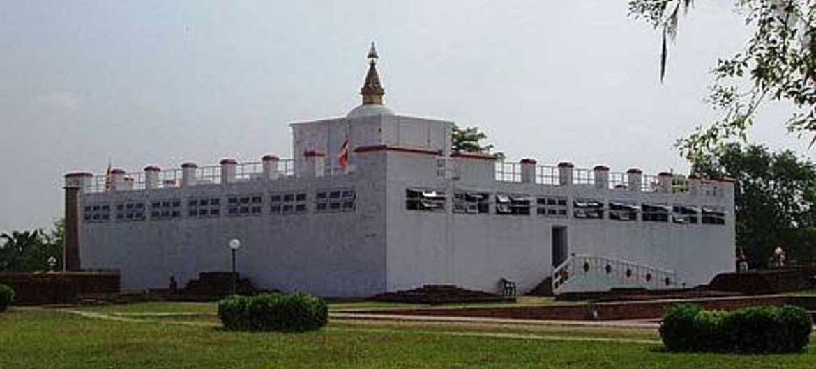 Lumbini, a World Heritage site, is the birthplace of Buddha.