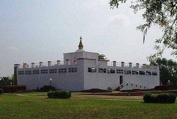 Lumbini, lieu de naissance de Bouddha.