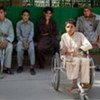 Injured civilians at a clinic