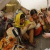 Secretary-General Ban Ki-moon visits with IDPs at Sultan Colony  camp in Province of Punjab
