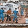 Une affiche à Goma, dans l'est de la RDC, prévient des conséquences criminelles des viols.