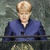 President Dalia Grybauskaite of the Republic of Lithuania