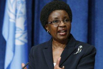 La Vice-Secrétaire générale de l'ONU, Asha-Rose Migiro.