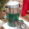Wood-saving stove