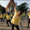 The elderly exercise in Tai Chi, Thailand