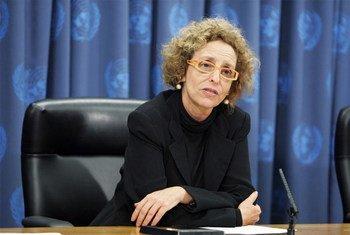 La Rapporteuse spéciale sur le droit à un logement adéquat, Raquel Rolnik. Photo ONU/Ryan Brown