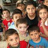 Children in a refugee camp in northern Lebanon