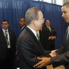 Secretary-General Ban Ki-moon (left) and President Barack Obama of the United States