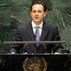 Foreign Minister Dimitris Droutsas of Greece, addresses general debate of the General Assembly