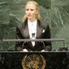 Aurelia Frick, Minister for Foreign Affairs, Justice and Cultural Affairs of the Principality of Liechtenstein, addresses the general debate of the sixty-fifth session of the General Assembly