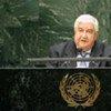 Le Ministre syrien des affaires étrangères, Walid Al-Moualem.