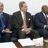 Les trois membres du panel de l'ONU au Soudan.