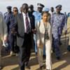 La délégation du Conseil de sécurité lors d'une visite au Soudan.