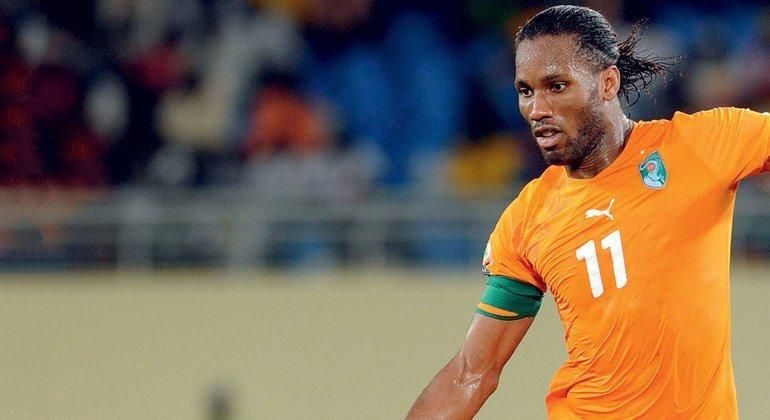 Jogador marfinense, Didier Drogba é o novo embaixador da Boa Vontade para o Esporte e a Saúde da OMS