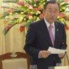Le Secrétaire général Ban Ki-moon à un dîner de gala à Hanoï.