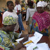 Ivoirians registering to vote in Bouaké