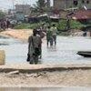 Victimes des pluies torrentielles au Bénin.