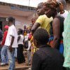 Ivoirians waiting in line to vote in the 31 October 2010 presidential election