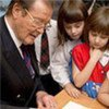UNICEF Goodwill Ambassador Sir Roger Moore visits a Moscow inclusive school in March 2010