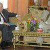 Ambassador Claude Heller (left) and Prime Minister Madhav Kumar Nepal in Kathmandu