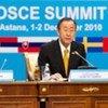 Le Secrétaire général Ban Ki-moon au Sommet de l'OSCE à Astana.