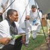La chef d'OCHA, Valerie Amos, lors d'une visite au Pakistan.