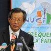 Le Représentant spécial de l'ONU en Côte d'Ivoire, Y. J. Choi, en conférence de presse à Abidjan