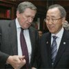 Secretary-General Ban Ki-moon (right) with the late Richard Holbrooke in 2007