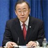 Le Secrétaire général de l'ONU Ban Ki-moon lors de sa conférence de presse de fin d'année le 17 décembre 2010.