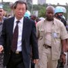 Special Representative Y.J. Choi visiting people injured during a political protest in Abidjan