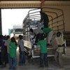 Des bulletins de vote arrivent à Juba, au Sud-Soudan, en provenance du Royaume-Uni.