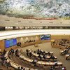 Human Rights Council in session at the Palais des Nations in Geneva