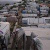 Campamento de desplazados