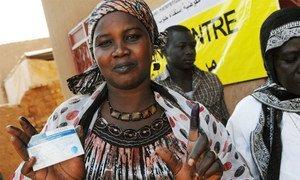 Une électrice soudanaise.