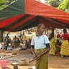 Displaced people seeking safety and assistance at a Catholic mission in Duékoué, Côte d'Ivoire