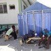 Cholera patients await treatment in L'Estere, Haiti