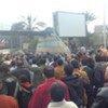Des Egyptiens manifestant au Caire en janvier 2011 contre le régime de l'ancien Président Hosni Moubarak.
