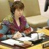 La Haut-Représentante de l'Union européenne pour les affaires étrangères et la politique de sécurité, Catherine Ashton.