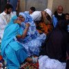 Separated families meet up again during a family visit in Western Sahara.